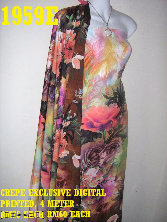 CDP 1959E: CREPE EXCLUSIVE DIGITAL PRINTED, 4 METER