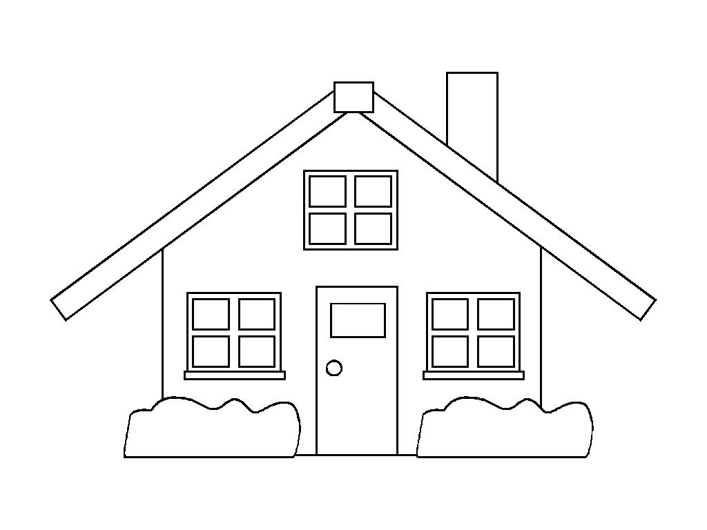 Desenhos de casas para imprimir e colorir coisas pra ver - Formas de pintar una casa ...