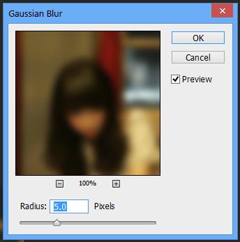 Atur Gaussian Blur