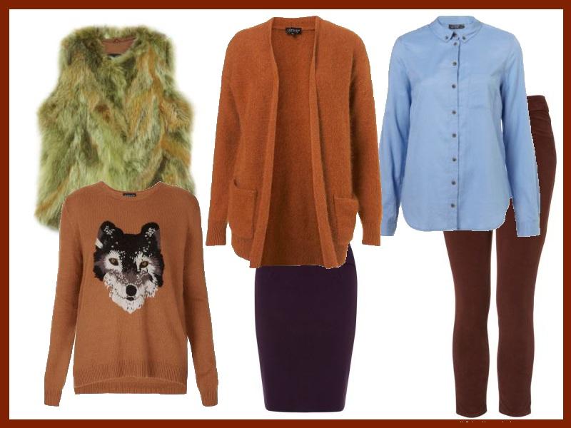 Przykładowa garderoba dla ciemnej jesieni