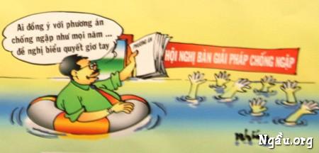 Biếm họa hội nghị giải pháp chống ngập