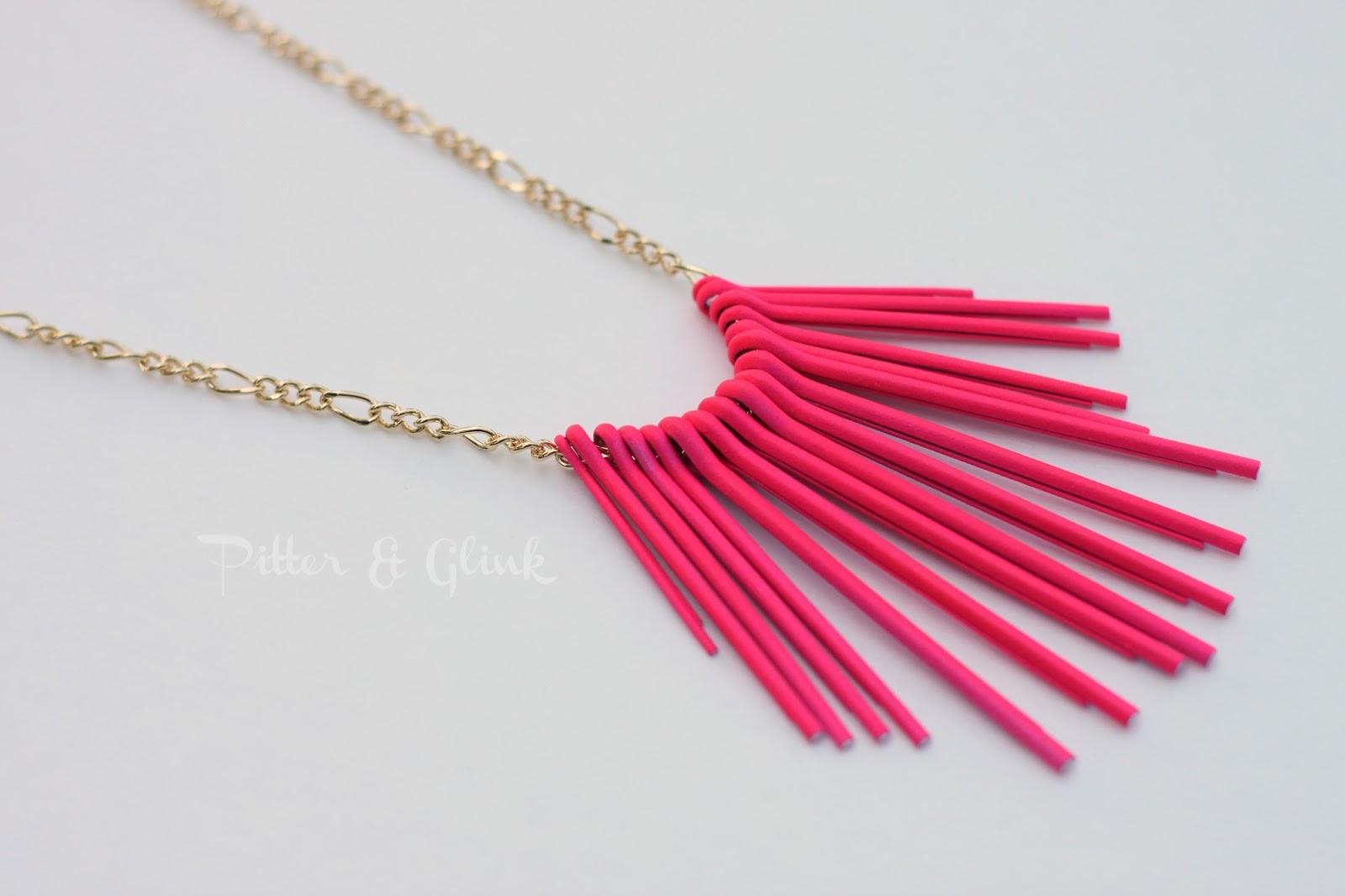 diy neon statement necklace - photo #16