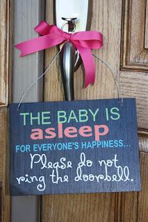 Baby is Sleeping Sign
