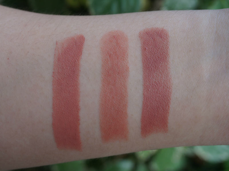 Wet n Wild Bare It All, Revlon Mauve It Over, MAC Velvet Teddy