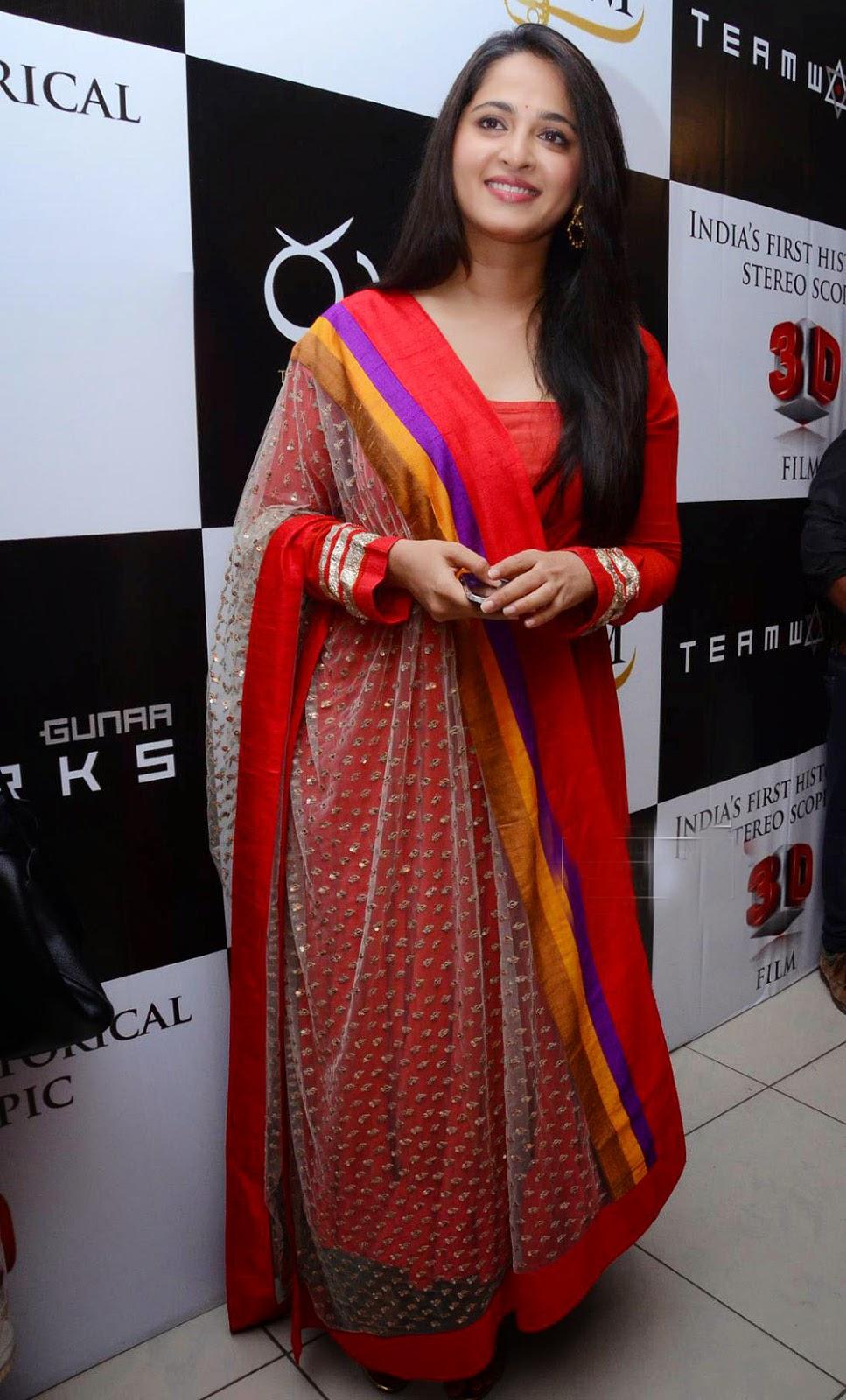 Anushka shetty latest photos at Rudramadevi film trailer launch