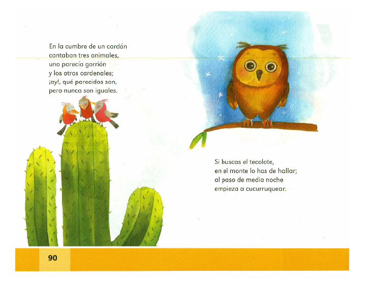 Coplas de animales - Español Lecturas 2do grado ~ Apoyo Primaria