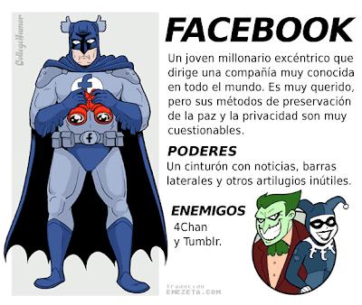 Imagen de la liga de la justicia de internet - SuperHeroe Facebook