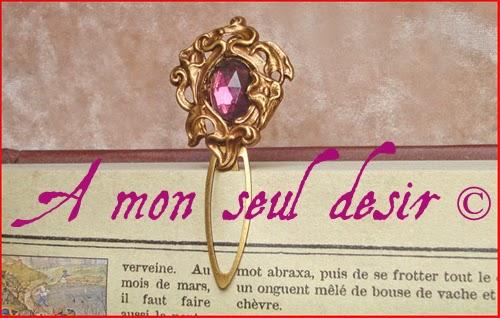 Marque Page Elfique Floral Violet Améthyste Flower Elven BookMark Purple Perfume
