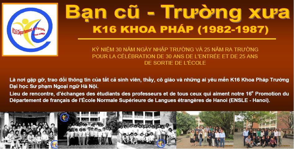 K16 KHOA PHÁP (1982-1987)