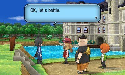 Pokémon X & Y: novos monstrinhos, trailer, imagens, personagens e o primeiro ginásio Girl_Trainer_meeting_Calem_Kalem_Kalem_screenshot