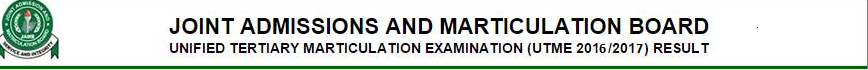 Check Your JAMB 2016 Result - JAMB 2016 Result Checker