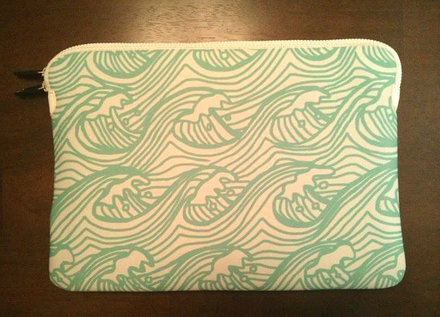 opposite side of case featuring water / waves pattern
