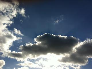 Sun shines through the clouds