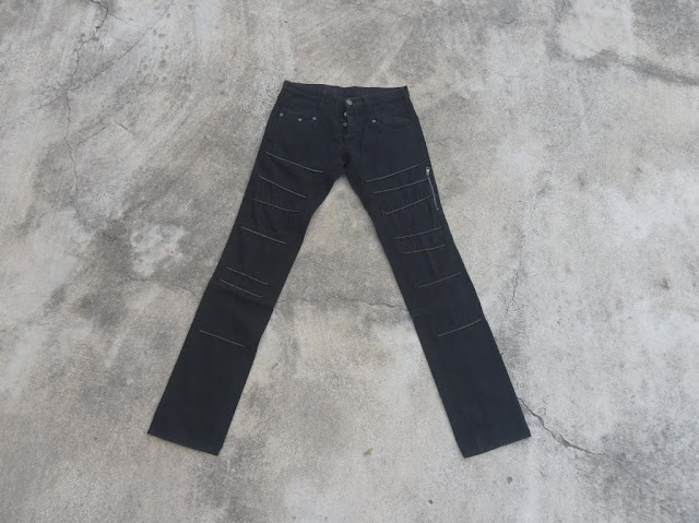 Authentic Neil Barret punk design black jeans
