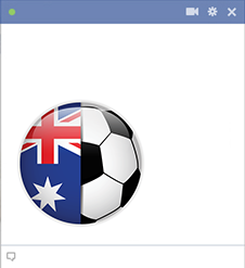 Australia football emoticon