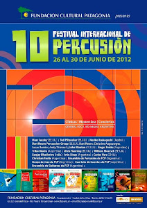 Invitados al 10º Festival de Percucion Patagonia