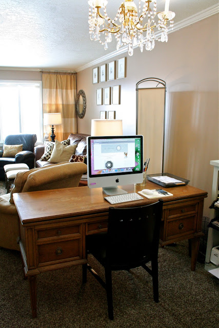 I Have A Fairly Compact Desk, Which Needs To Get Refinished Or Painted.  Here Is Is In My Previous Rental House: