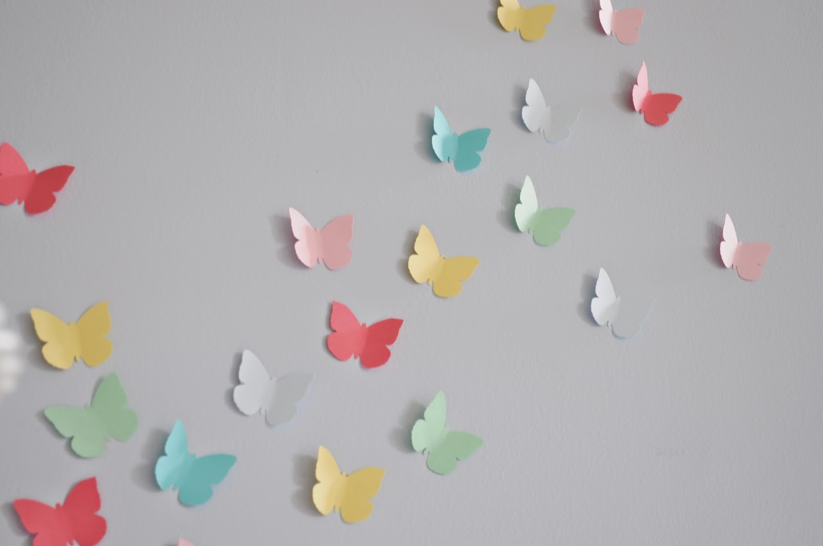 Fresh And when cupcake flags weren ut enough I bent some of the butterflies u wings and gluesticked totally a word them fluttering up the wall