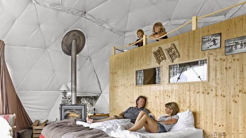 """Whitepod"" Hotel Ecologico en Suiza"