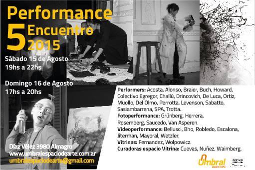 V Encuentro Performance - Umbral - Espacio de arte