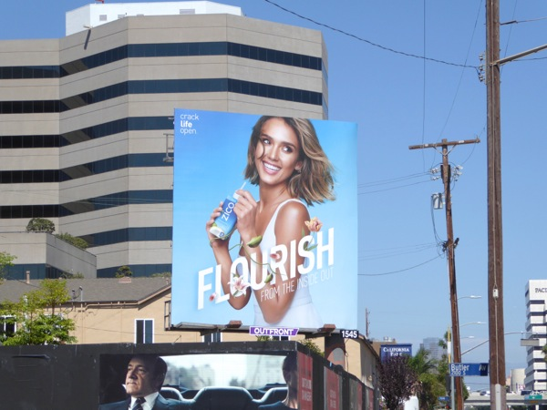 Jessica Alba Zico coconut water Flourish billboard