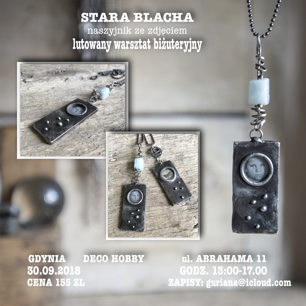 DECO HOBBY Gdynia wisior STARA BLACHA