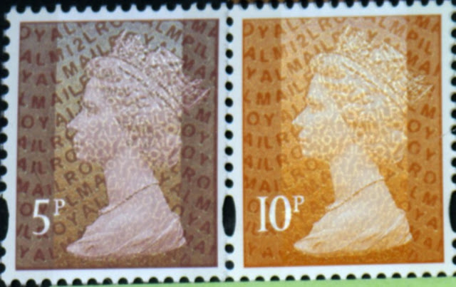 5p & 10p Machin definitives from Dr Who PSB.