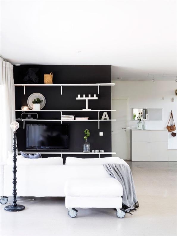 casa nordica de diseño actual en blanco y negro chicanddeco