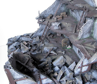 Makieta ruin budynku do gier bitewnych; Mordheim, Warhammer Fantasy Battle