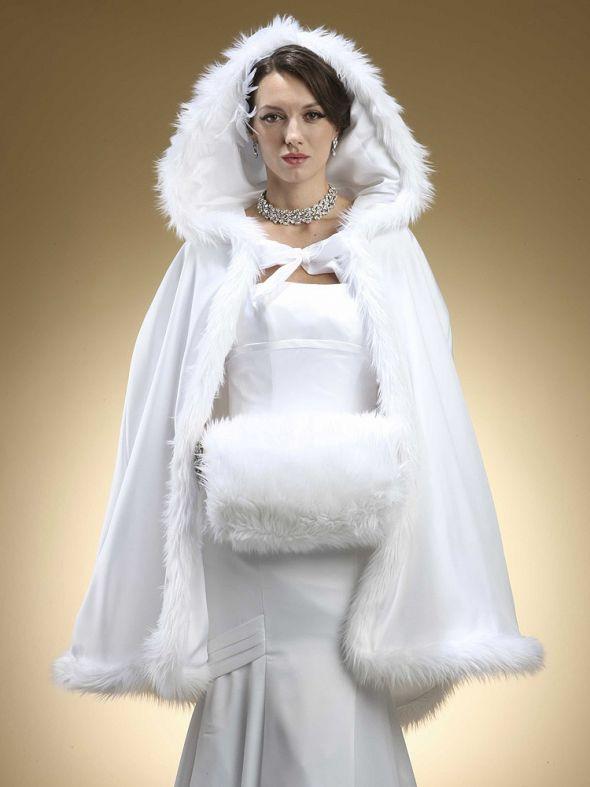 Winter wedding dress mature bride