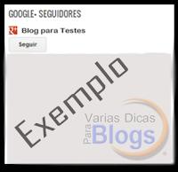 Novo Gadget Seguir no Google+