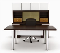 Modern Desk with White Accents