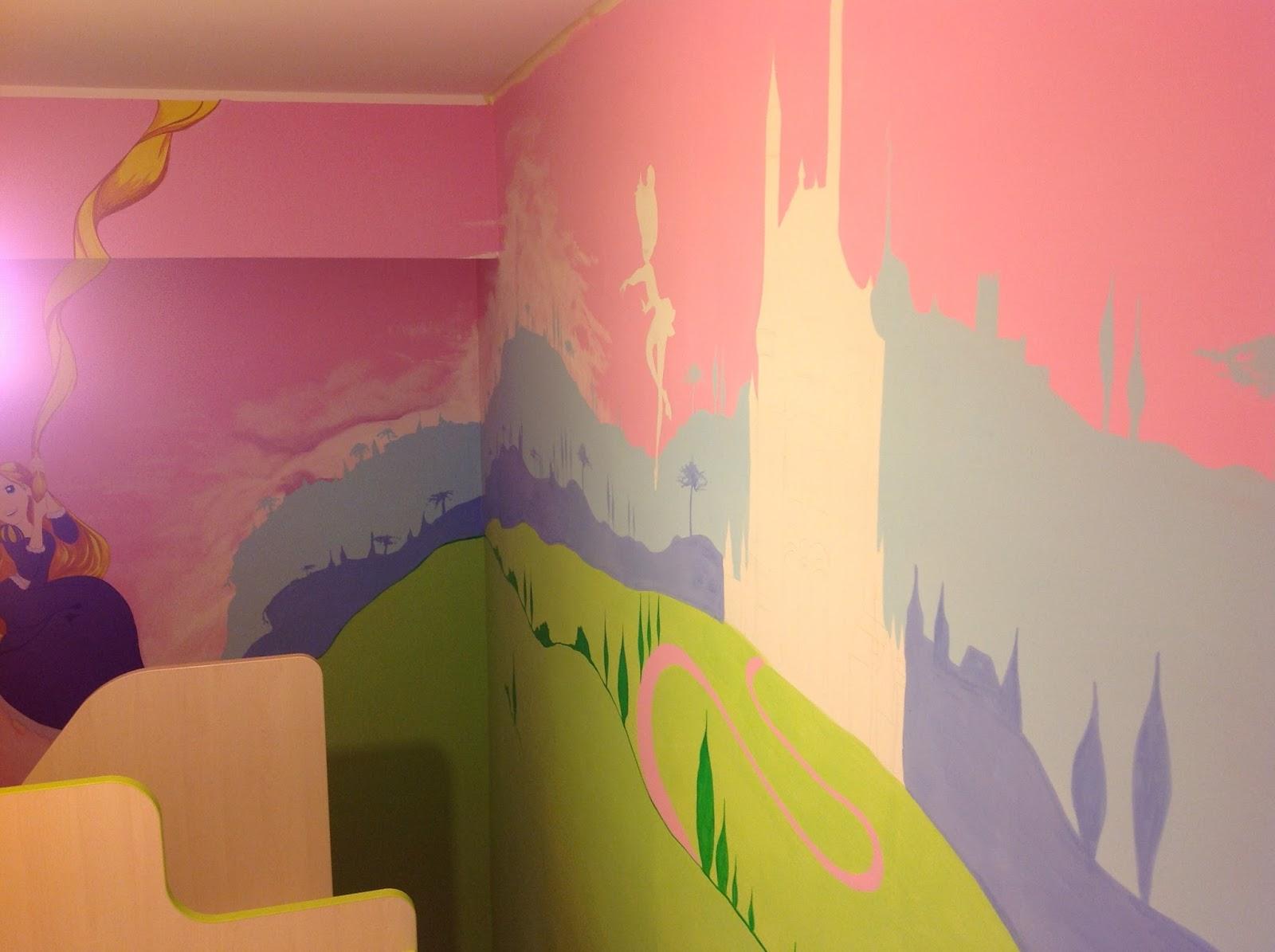 Cameretta Disney Principesse : Francesca decorazioni murales principesse disney