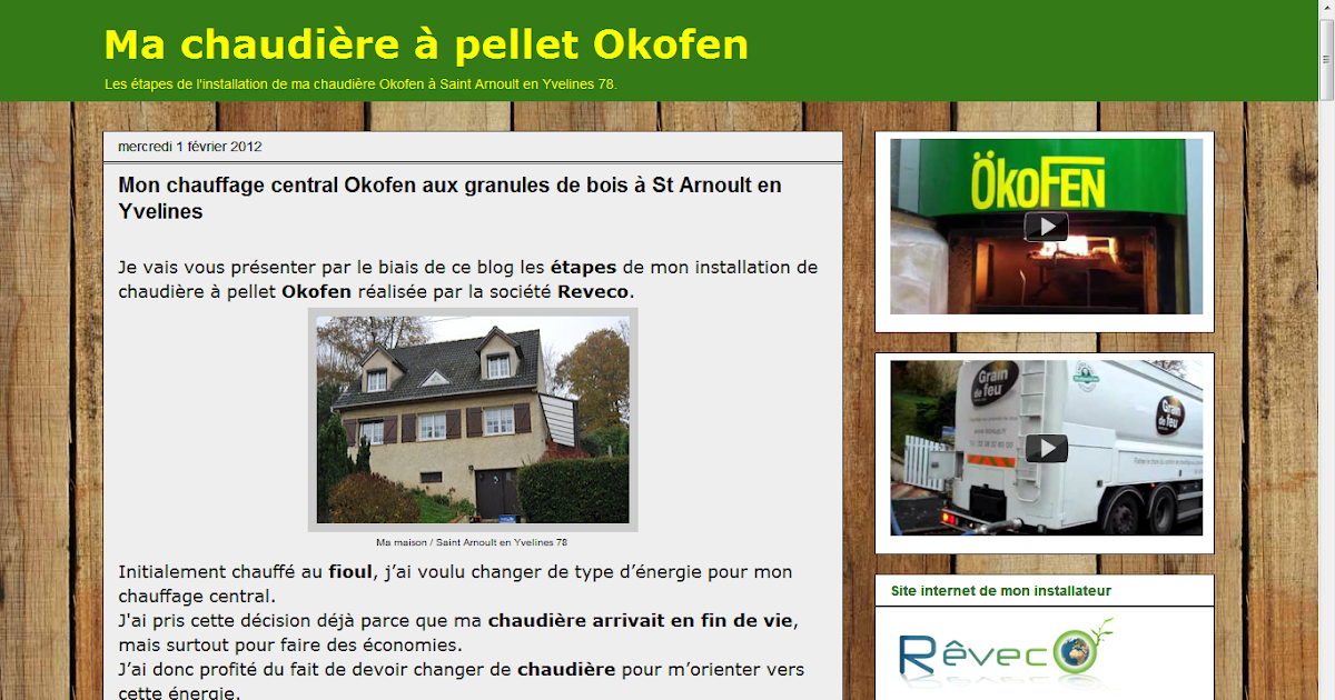 les blogs client reveco chaudi re pellet okofen. Black Bedroom Furniture Sets. Home Design Ideas