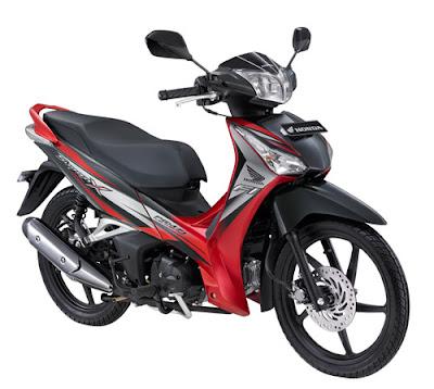 Motor Honda Supra X 125 Helm In PGM-FI warna merah superior