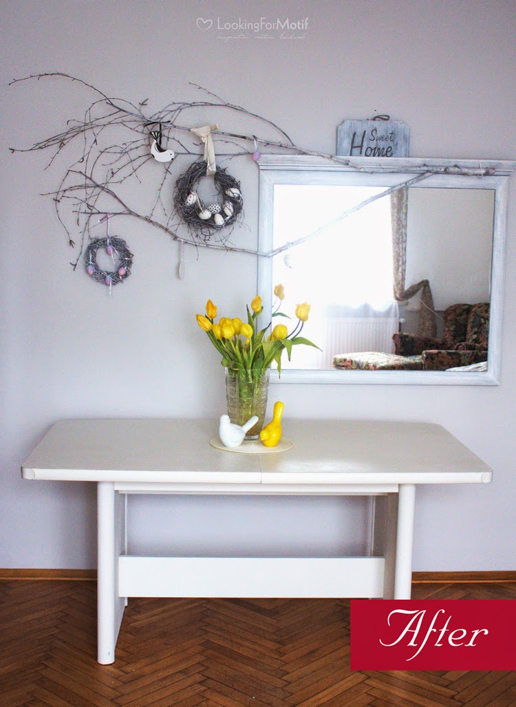 DIY, renovation, white table