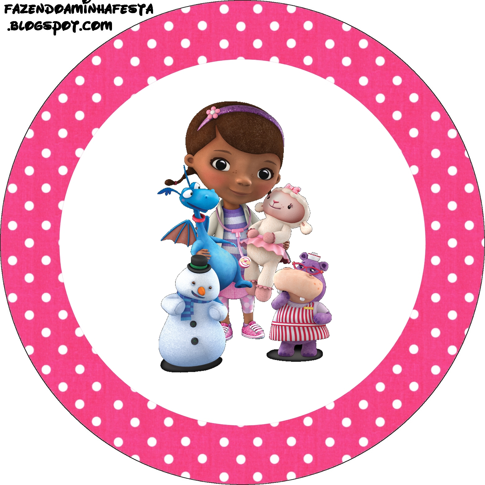 It is a picture of Striking Doc Mcstuffins Party Printables