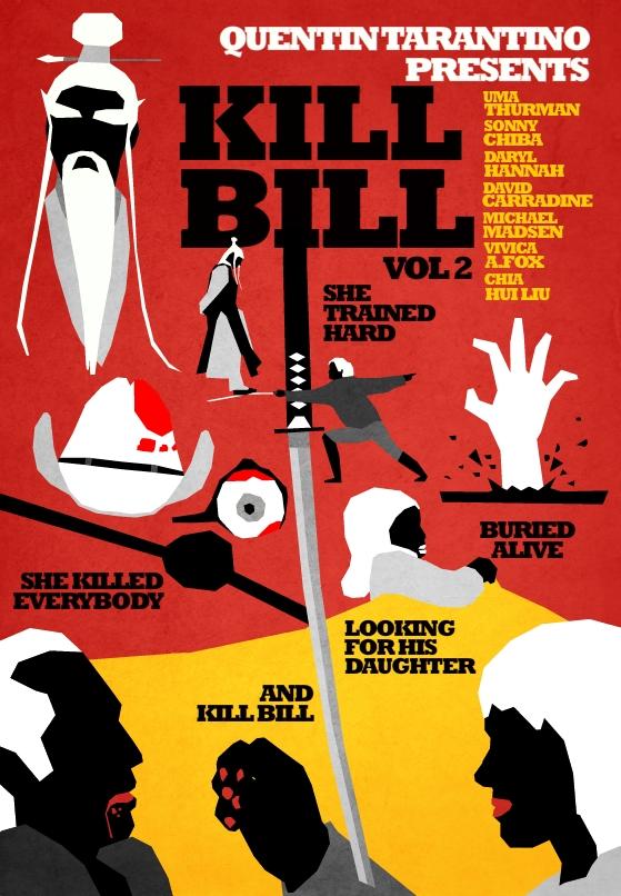 Filmes de Quentin Tarantino - posters de cinema minimalistas - Kill Bill vol 2