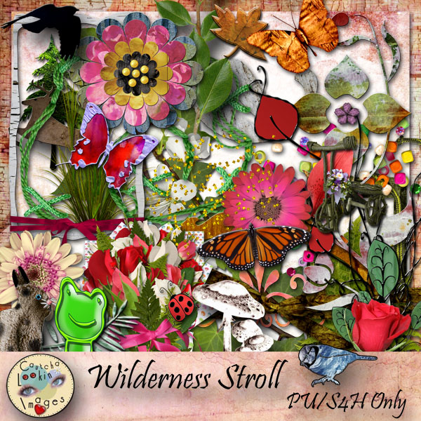 "Free scrapbook kit ""Wilderness Stroll"" from Cautchalookinimages"