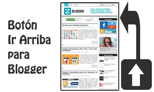 Botón Ir Arriba para Blogger