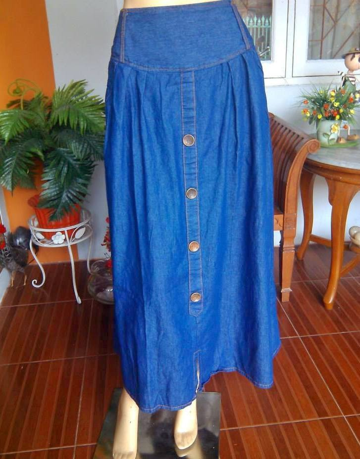 Wide Denim Skirt Jeans RM301