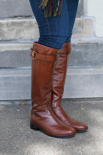 Brown Riding Boots by Tory Burch