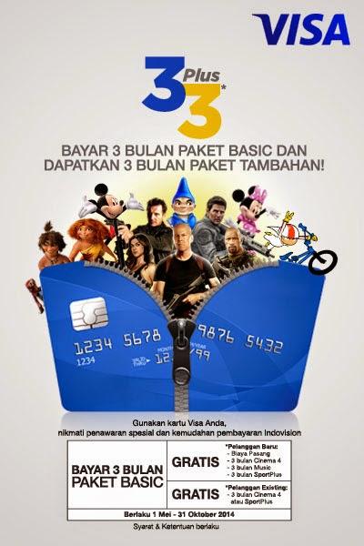 Promo Indovision Kartu Kredit Visa Bayar 3 dapat 6 Bulan