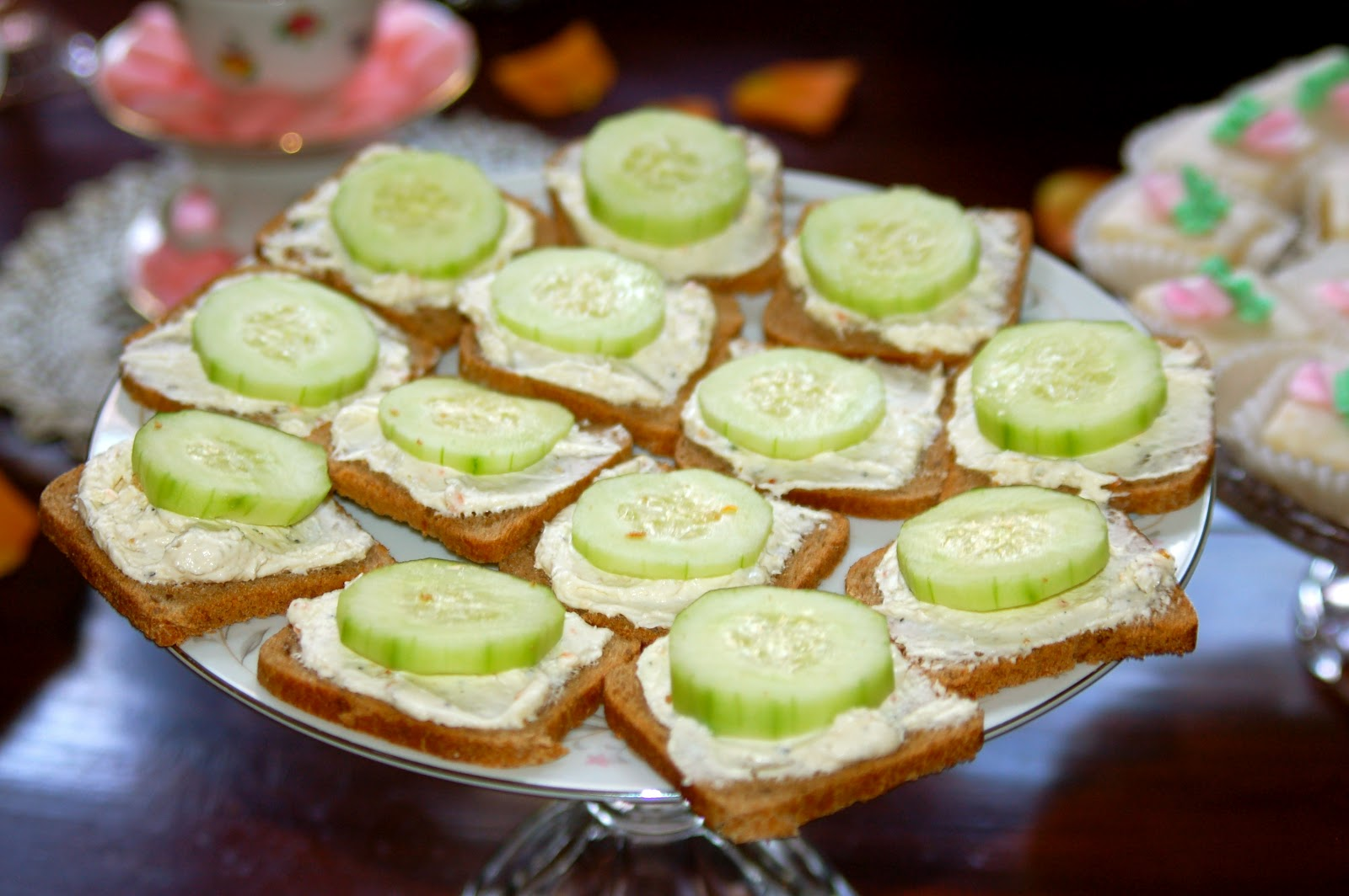 Samma Spot A Bridal Tea Party With Cucumber Finger Sandwiches