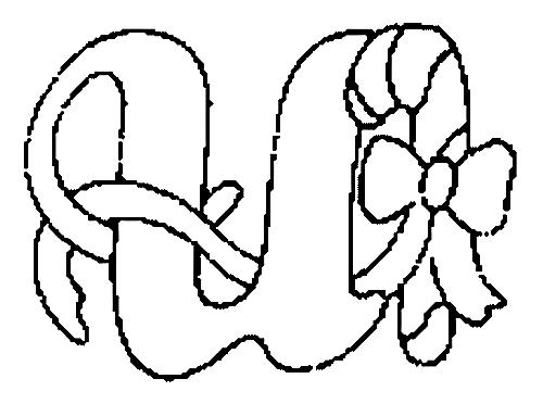 Desenhos Para Colori letras do alfabeto letra U desenhar