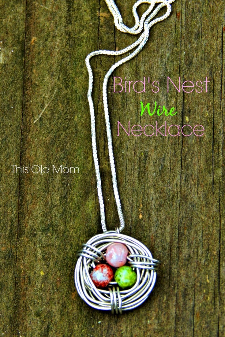Bird Nest Necklace, Mother Bird's Nest Necklace, Mother's Day Necklace, DIY Bird's Nest Necklace