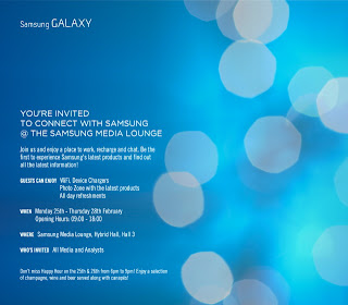 "Samsung Invitation for ""Samsung Media Lounge"""
