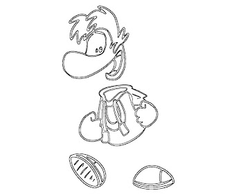 #3 Rayman Coloring Page