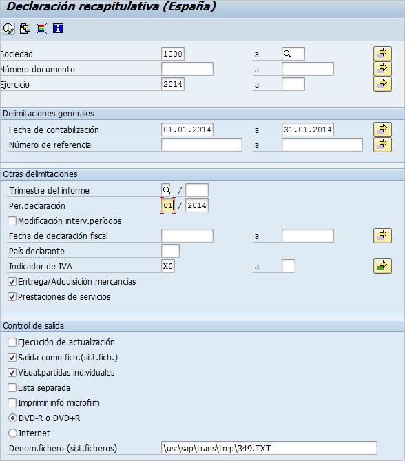 pantalla de selección de la transacción S_ALR_87012403