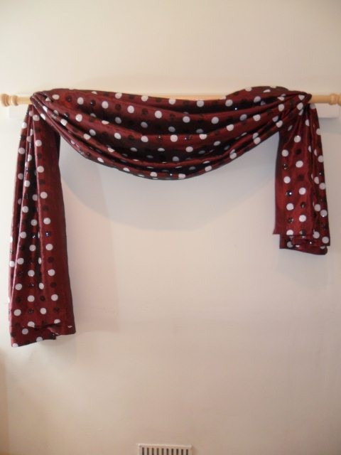 the great way to hang your scarf swag curtains